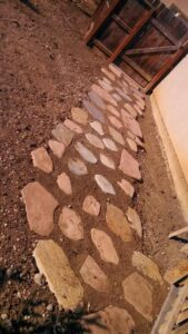 A picture of stone pavers in Oxnard.