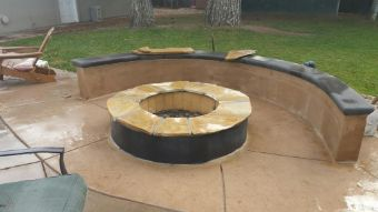 A picture of outdoor fireplace in Oxnard.