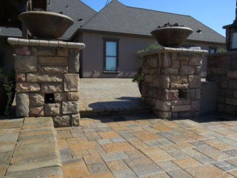 this image shows stacked stone masonry in oxnard california