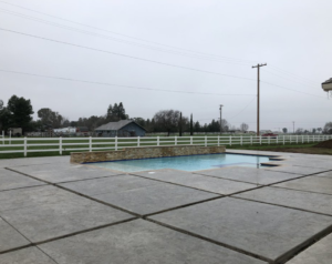 An image of finished concrete and masonry work in Oxnard, CA.